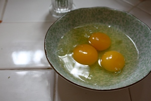 eggs on the counter